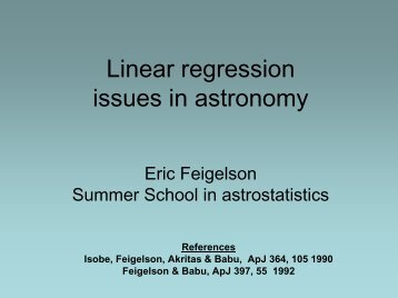 Linear regression issues in astronomy