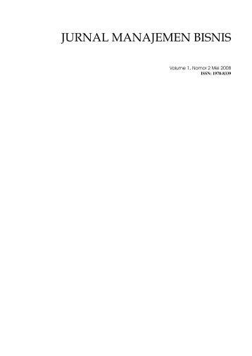 jurnal manajemen bisnis - USUpress - Universitas Sumatera Utara