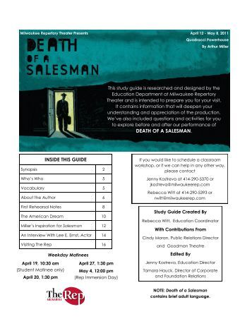 Death study salesman a guide of pdf