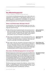 Das Mitarbeitergespräch - Dr. Wolfgang Huge