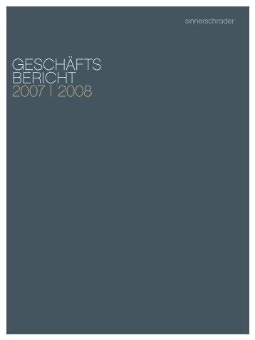 Geschäftsbericht 2007/2008 - SinnerSchrader AG