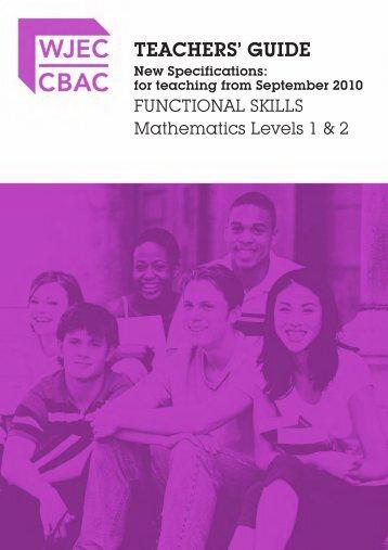 FS Mathematics Level 1 & 2 Teachers' Guide - WJEC