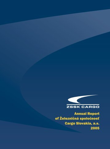 Annual Report 2005 - ZSSK Cargo
