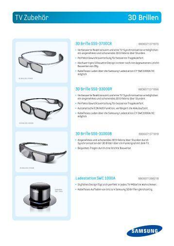 TV Zubehör 3D Brillen