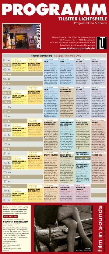 Troika-Kinoprogramm März 2013 - Tilsiter Lichtspiele