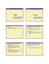 Overview of Multivariate Methods (PDF)