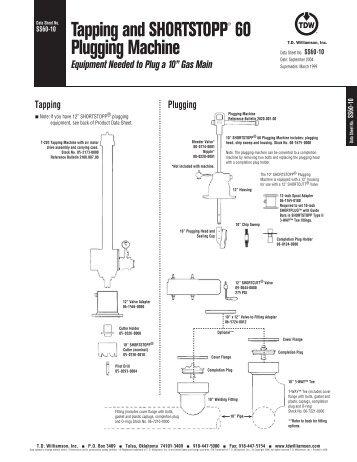 SHORTSTOPP® 60 10 Inch Data Sheet - T.D. Williamson, Inc.
