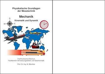 Physikalische Grundlagen der Messtechnik Mechanik Kinematik ...
