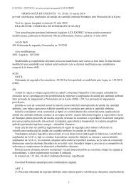 Ordonanţa de urgenţă nr. 29 din 31 martie 2010 privind valorificarea ...