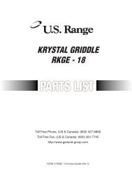 Parts Manual: Regal Series Gas Counter Griddle, model - Garland