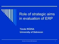Role of Strategic Aims in Evaluation of ERP Systems