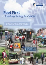 Walking Strategy 'Feet First' - Cheshire East Council Highways Service