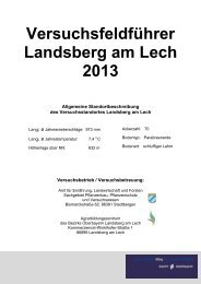 Versuchsfeldführer - Agrarbildungszentrum Landsberg am Lech