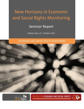 New Horizons in Economic and Social Rights Monitoring - Center for ...