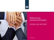 Presentatie Leefstijl & GGD Monitor (RIVM) - Mulier Instituut