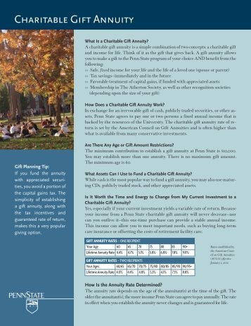 Retirement Planner Variable Annuity Client Brochure Penn
