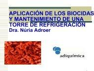 Biocidas no oxidantes - CRESCA