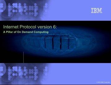 Internet Protocol version 6: