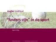 """""""Anders-zijn"""" in de sport - Mulier Instituut"""