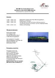 17:00 – 18:00 Uhr Stadionführung Borussia-Park ... - S-UBG Aachen