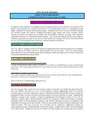 Executive Benefits Package - City of Los Angeles Personnel ...