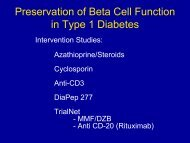 Assessment of Beta Cell Preservation in Type 1 ... - NIDDK Archives
