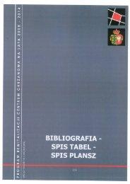 BIBLIOGRAFIA - SPIS TABEL - SPIS PLANSZ SPIS ... - Chrzanów