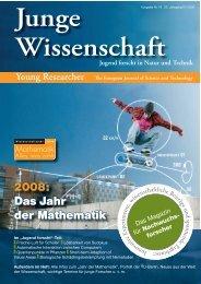 2008: Das Jahr der Mathematik - Junge Wissenschaft
