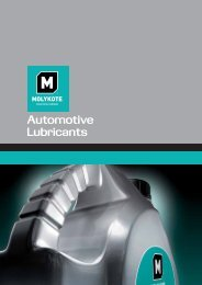 Catálogo Molykote Aceite Motor - Krafft