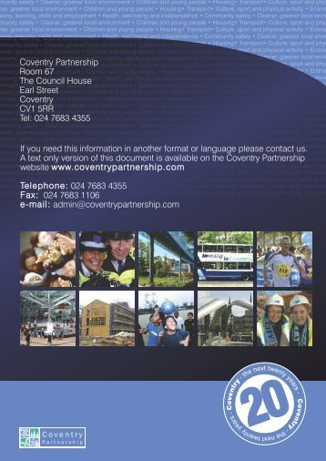 Sustainable Community Strategy - Coventry Partnership