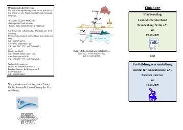 Programm (pdf) - Landesfischereiverband Brandenburg - Berlin