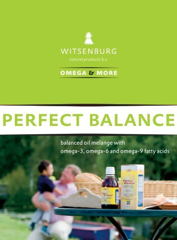 perfect balance - Witsenburg Natural Products BV