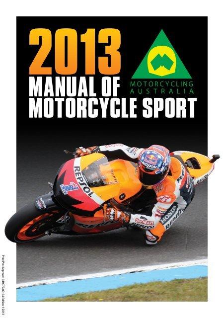 MANUAL OF MOTORCYCLE SPORT - Motorcycling Australia