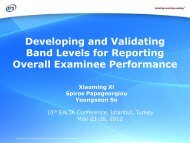Developing and Validating Band Levels for Reporting Overall ... - ealta