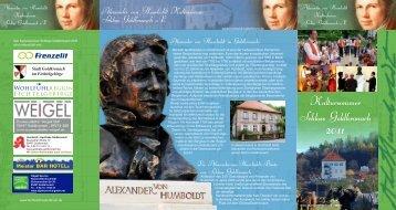 Kultursommer Schloss Goldkronach - Humboldt Kulturforum