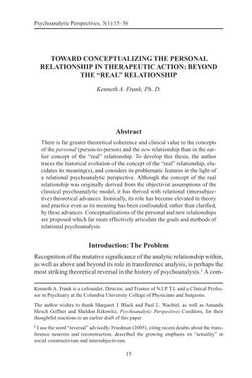 psychoanalytic perspective relation iago Relational psychoanalysis is a school of psychoanalysis in the co-written with jay greenberg and called object relations in psychoanalytic theory is considered to.