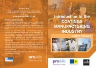 Introduction to the COATINGS MANUFACTURING ... - Proskills