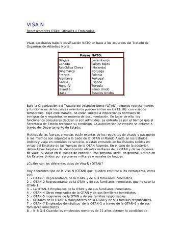 VISA NATO - Consulado General de los Estados Unidos Hermosillo ...