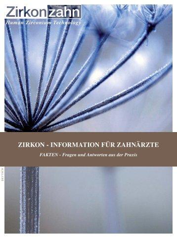ZIRKON - INFORMATION FÜR ZAHNÄRZTE - Zirkonzahn