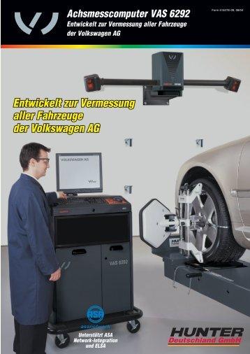Achsmesscomputer VAS 6292  - Hunter-d.de