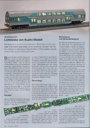 Lichtleiste von Kuehn-Modell