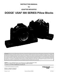 DODGE USAF 500 SERIES Pillow Blocks - PTplace.com