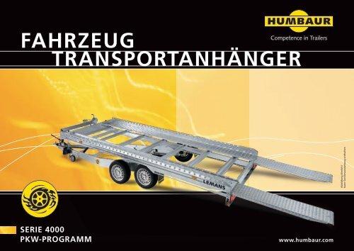 FAhrzeug trAnsportAnhÄnger - Humbaur