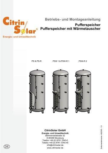 Pufferspeicher DE.book - Citrin Solar