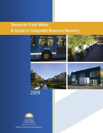 Resources From Waste - Ministry of Community, Sport and Cultural ...