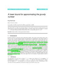 A lower bound for approximating the grundy number - Discrete ...