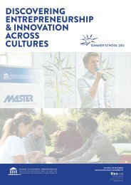 Summer School 2012 - Institute for Entrepreneurship