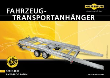 TRANSPORTANHÄNGER FAHRZEUG- - Humbaur