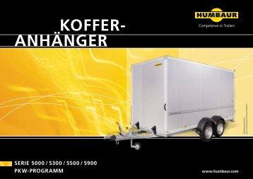 ANHÄNGER KOFFER- - Humbaur