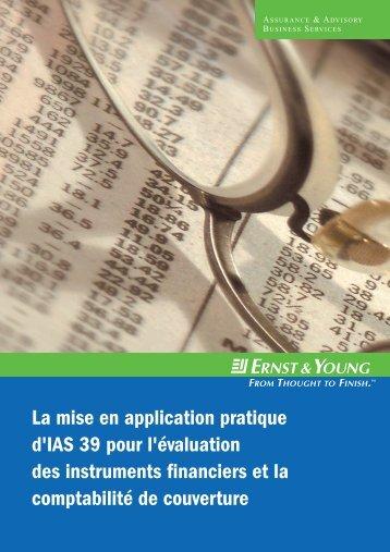 La mise en application pratique d'IAS 39 pour l'évaluation des ...